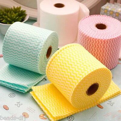 BD 1Roll Facial Towel Cotton Multi Use Soft Tissues Beauty Dish Clean Paper