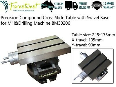 225*175mm Precision Compound Cross Slide Table with Swivel Base Milling Work