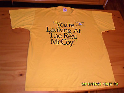 VTG 90/'s Cutty Sark Scots Whisky You/'re Looking At The Real McCoy T-Shirt SZ XL