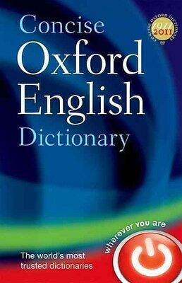 Concise Oxford English Dictionary by Oxford Dictionaries Hardcover Book (English