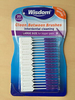 Wisdom Clean Between Interdental Purple Large Size 20 Brushes per pack
