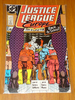 Justice League Europe #6 Vol 1 Dc Comic Jla 1St App Crimson Fox September 1989