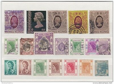 Hong Kong QV-QEII Mint &amp  Used Collection to $50 (19V) ZZ1225