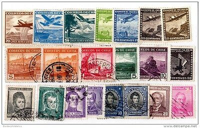 Chile Collection of 21 Values Mint/VFU X2308