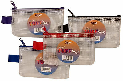 Mini Tuff Bag 13x8cm Heavy Duty Strong Wallet Document Storage Waterproof Pouch