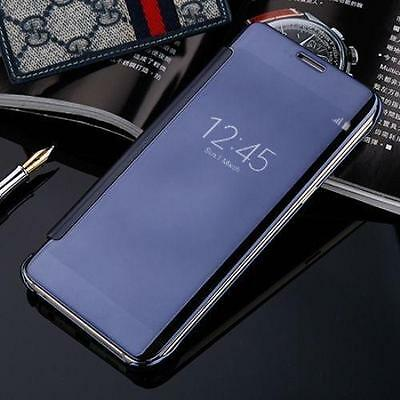 Ultra Thin Clear Smart View Mirror Leather Flip Case Cover For Samsung Galaxy