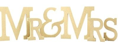 Mr & Mrs 18mm Mdf Freestanding Sign Mr And Mrs - 15cm High Craft Blank Unpainted