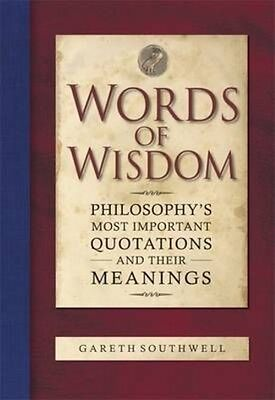 Words of Wisdom by Gareth Southwell Hardcover Book (English)