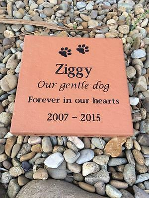 Pet Memorial Plaque - Clay Paver - Personalised - Made to Order
