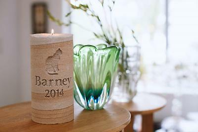 Pet Memorial Eternal Candle with Optional Receptacle Personalised Made to Order