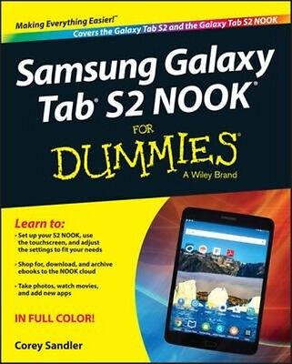 Samsung Galaxy Tab S2 Nook for Dummies by Corey Sandler Paperback Book (English)