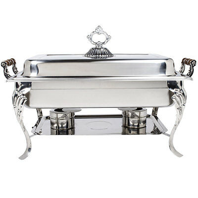 Choice Classic Rectangle 8 Qt. Stainless Steel Chafing Dishes Catering