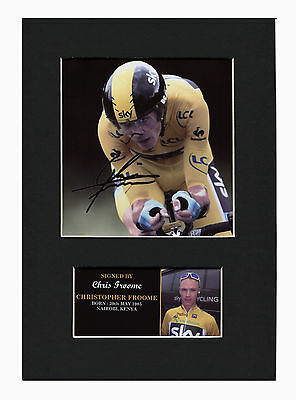 Chris Froome Quality signed Mounted Pre-Print 12 x 8.2 A4 brand new #