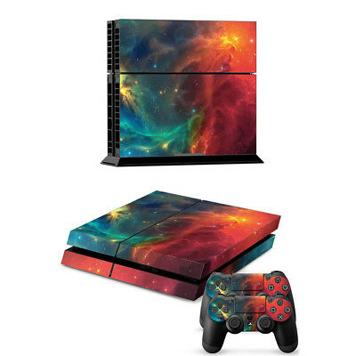 Deep Space Vinyl Decal Skin Sticker for Playstation 4 PS4 Console+2 Controllers