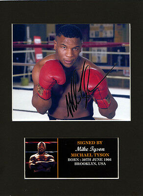Mike Tyson Boxing Quality signed Mounted Pre-Print 8 x 6in A5 brand new sealed