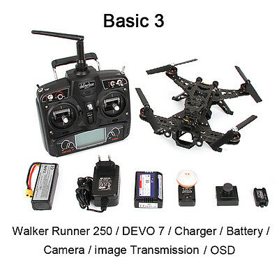 UK Stock Walkera RUNNER 250 Racing Drone RTF DEVO 7 + HD Camera+OSD Version