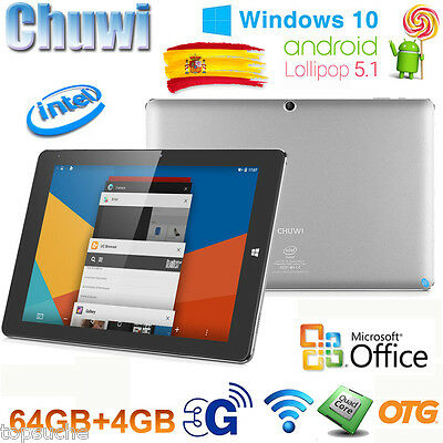 "4/64GB 10.8"" CHUWI Hi10 Plus PC Tableta Windows10+Android5.1 Tablet 1920*1280"