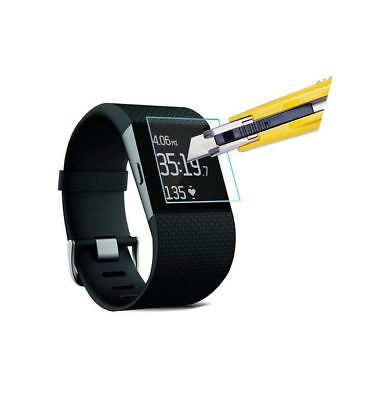 Hellfire Trading Tempered Glass Screen Protector Film Guard for Fitbit Surge