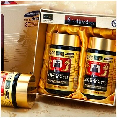 Fast shipping!! 240g(8.5oz) X 2ea, Korean 6Years Root Red Ginseng gold Extract,