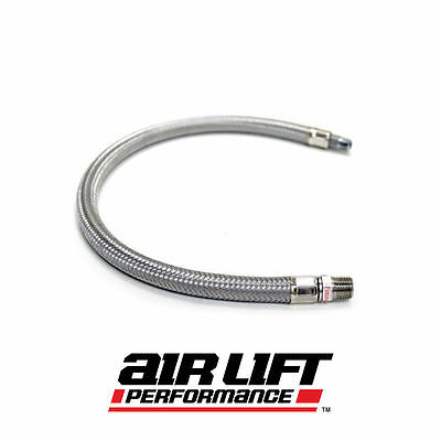 "Airlift Braided Hose Line 1/4"" Male for Struts - New Style"
