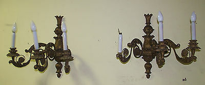 Pair of Empire Wall Sconces, c. 1890, , Impressive Size, Wandleuchten