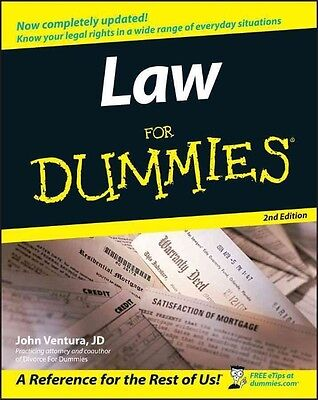 Law for Dummies by John Ventura Paperback Book (English)