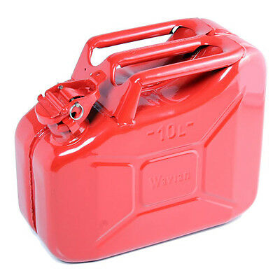 High Quality Metal Jerry Can for Petrol or Diesel Fuel Red 10L