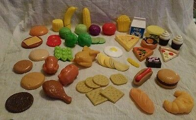 Vintage Pretend Play Food Assorted Lot 58 Pieces