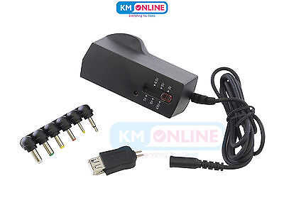 Multi Voltage Compact Portable 2500mA Regulated Universal Power Adaptor AC/DC UK