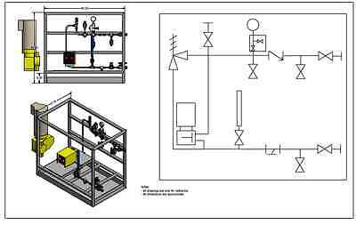 Preengineered Liquid Transfer, Chemical Metering, Injection, Feed,Injection Skid
