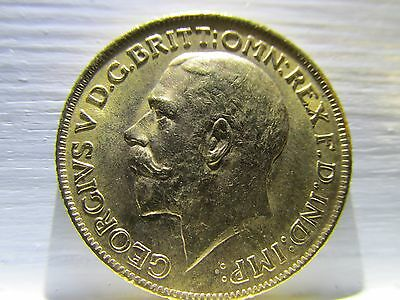 1912 Great Britain Full Gold Sovereign Coin King George and the Dragon BU