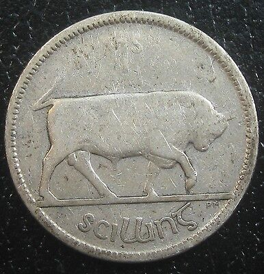 Ireland 1928 One Silver Shilling As Pictured G1077