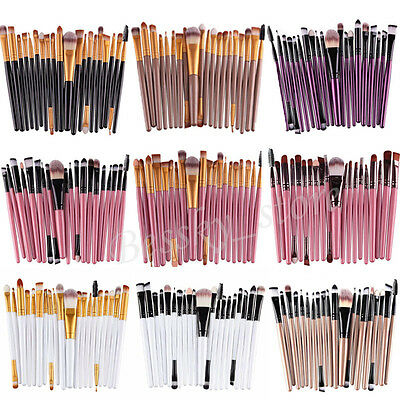 20Pcs Makeup Brushes Set Powder Foundation Eyeshadow Eyeliner Lip Cosmetic Brush