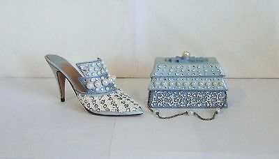Just The Right Shoe by Raine Frosted Fantasy 25032 & Matching Purse 26409 (SH4)