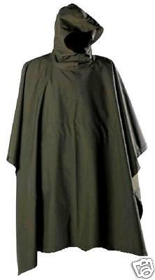 WATERPROOF CAMPING PONCHO olive smock walking jacket camping festival hiking