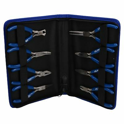 8pc mini plier set ( cutters / long nose / circlip / engineers ) by BERGEN IRE