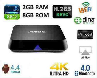 M8S Quad Core Android 4.4 Smart Mini PC TV Box Fully Loaded Free Movies TV