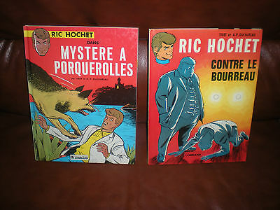 Ric Hochet - Lot 2 Tomes Editions Anciennes - Mystere Porquerolles + Bourreau