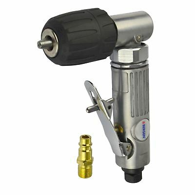"""3/8"""" Keyless Air Angle Drill Right Angle Drilling Tool Chuck BERGEN AT643 IRE"""