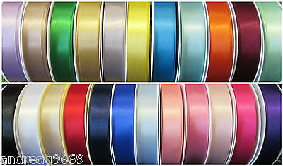 25mm BERISFORDS DOUBLE SIDED SATIN RIBBON BERESFORDS VARIOUS COLOURS & LENGTHS