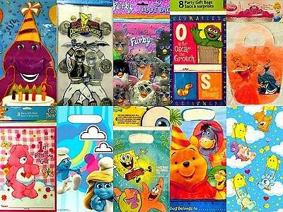 Birthday Party LOOT BAGS Goodie Favor Treat Gift Candy Sacks Kids Children NEW