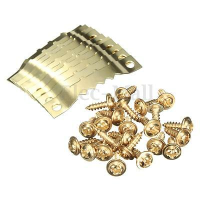 10/20 Pairs Gold Saw Tooth Hangers Hooks + Screws Hanging Picture oil Paingting