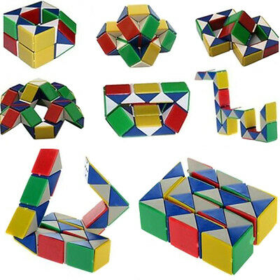 3D Magic Snake Puzzle Game Cube Toy Party Travel Child Kid Brain Twisting Speed