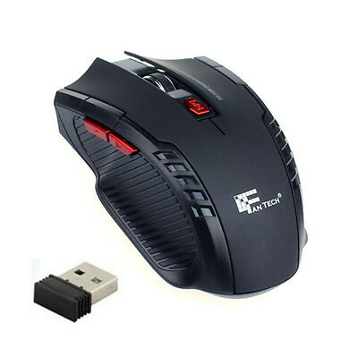 2.4Ghz Mini Wireless USB Optical Gaming Mouse Mice For PC Laptop Computer Black