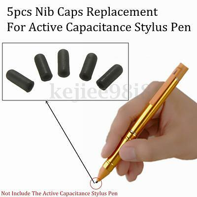 5x Touch Screen Tip Nib Caps Replacement For 2.3mm Active Stylus Drawing Pen UK