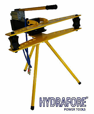 """Hydraulic pipe tube bender 1/2"""" - 2"""" with air driven and bulit in pump"""