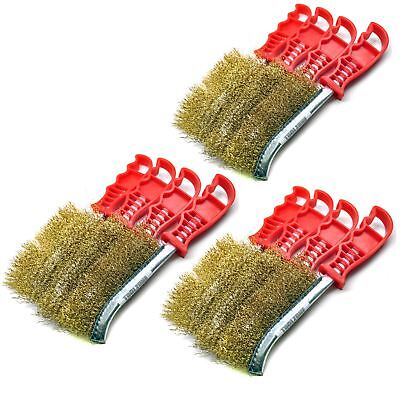 Brass Plated Rust Removal Cleaning Hand / Spid Brush (12 Pack) TE221 IRE