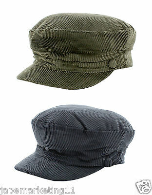 Men's Lennon Cord Mariner / Breton Style Cap In A Choice Of Sizes & Colours