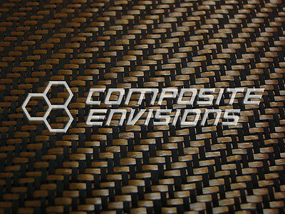 "Carbon Fiber/BRONZE ZYLON Fabric 2x2 Twill 50"" 3k 5.5oz/186.48 gsm"