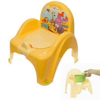 Potty Training Chair For Toddlers Easy To Clean Removable Animals Baby Yellow